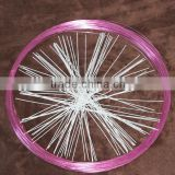 Colored aluminum flat wire,craft color aluminum wore colored wire for craft,colored aluminum craft wire
