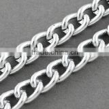 Polished Chunky Aluminum Twist Curb Chains, Unwelded Link Chain(CHA-K1509)