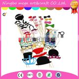 Photo Booth Props 60 piece DIY Kit for Wedding Party Reunions Birthdays Photobooth Dress-up Accessories & Party Favors