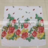 Scarf Design New Multicolor Floral Butterfly Print Scarves 100% Viscose Muslim Hijab Scarf 180*90 Pashmina Shawls Scarf