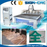 Multi head 3d wood cnc router, cnc engraving machine for wooden furniture, pvc, MDF, acrylic