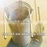 Stainless steel condensing coiled pipe for cooling beverage