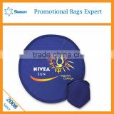 Wholesale foldable frisbee fan flying disc customised fabric frisbee Folding Pocket Frisbee