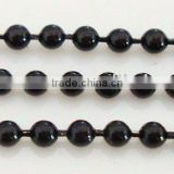 black color metal ball chain