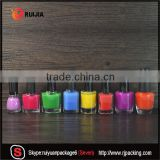 RUIJIA 5ml 7ml 9ml 10ml 11ml 13ml 14ml 17ml empty uv gel nail polish glass bottle holder with caps brush and labels design                                                                                                         Supplier's Choice