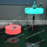 Shanghai event rental commercial acrylic LED illuminated bar cocktail table coffee table
