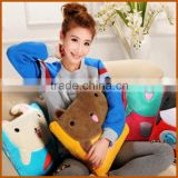 Fluffy Animal Shape Fleece Decorative Pillow