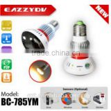 IR wifi hidden camera spy camera design light bulb video recorder cctv camera