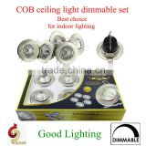 popular led ceiling lamp in color box, 5pcs led spot light for indoor using