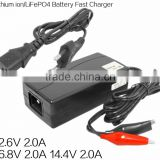 CE approved AC 100~240V top quality 14.6V 1.8A automatic 2 stages lifepo4 battery charger