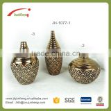 home & garden vase electroplating gold ceramic corn planter, gold chinese ceramic vase