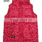 Apparel Stocklots Girls Cute Padded Vest with Polar Fleece