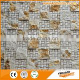 Indoor Or Outdoor Natural Slate Mosaic Floor Tiles,Multicolor Cheap Cultured Stone,Rusty Stone Slate