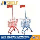 beautiful shopping baby trolley with flag
