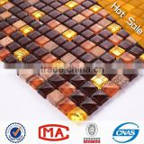 dark brown broken china mosaic mosaic stone silver mirror mosaic vases