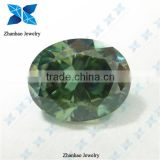Hot Selling Oval Synthetic Moissanite Green Synthetic Moissanite