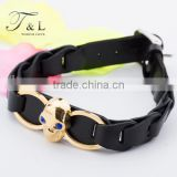 Hot sale staineless steel real leather bracelet jewelry