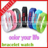 Cheap price wholesale colourful fashional led geneva silicone watch