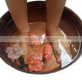 Rustic Burnt Fired Copper Pedicure Foot Spa Bath Therapy Massage Soaking Bowl