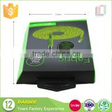 Unique design embossed UV custom logo special shape recyclable hdmi cable paper packing boxes