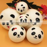 Promotional Gifts Wholesale New Creative Soft Fake Expression Panda Bread Artificial Food Model Props -Yiwu sanqi crafts factory