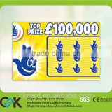 hot sale scratch card printing