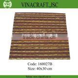 Raw original decorative bamboo table mat