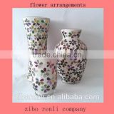 Color Flower Pattern Mosaic White Mud Murano Vases Antique China Import Items Decor for Home