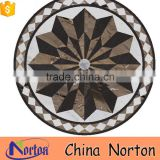 Norton european simple round waterjet square marble medallion for sale NTMS-MM005L