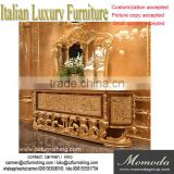 momodaLuxury French Louis XV baroque Buffet Sideboard Cabinet/ Antique dining room Cabinet With Mirror
