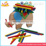 Wholesale colorful wooden bricks stacking toy brain training wooden bricks stacking toy W13D055