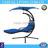 Dream Swing Chair Outdoor Hammock Bed Hanging Sun Loungers with Canopy/Parasol & Removable Padded Cushion