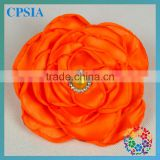 Colours Stock Satin ribbon flowers Making Pearl Center Cheap Decorative Artificial Flower