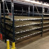 Gravity Carton Flow Conveyor Roller Rack , Dynamic Flow Shelf