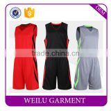 latest basketball jersey design wholesale 2016 China supplier custom material sports uniforms