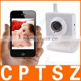 H.264 P2P Wireless Video Baby Monitor with IR-cut, iPhone/Android Mobile View, 32GB TF Card Slot-J