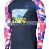 Lycra cool feeling rash guard sublimation rash vest surf diving dress