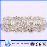 Classical high-end elegant classic ivory transparent with handmade beaded belt crystal lace wedding dresses