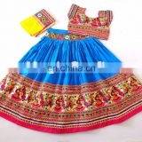 LATEST 2017 NAVRATRI CHANIYA CHOLI- Designer party wear lehengas- Indian Cotton Kutch Embroidered Choli
