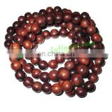 Rosewood Beads String (mala) made of fine quality handmade 12mm round rosewood beads