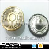 fashion brass metal jeans tack button,Eco-friendly racking real golden metal denim button