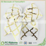 Wholesale Jumbo Gold Foil Cheer Bow With Elastic Bands