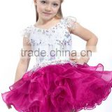 High quality Glamorous Cotton Lining Crystal Blings Puffy Ball Gown Tutu Flower Girl Dresses For Pageant Birthday Wedding Party
