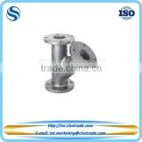 ASME B16.1 cast iron flanged 45 degree pipe fitting lateral reducing tee, branch y tee pipe fitting