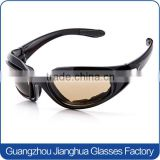 Hot sale shiny black frame eva foam high impact tear free cutting onion goggles                                                                         Quality Choice