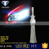 Guangzhou Tinsin direct factory supply high power 80W 9600lm H1 led remote light