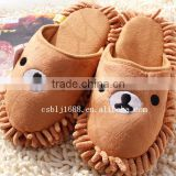 Factory direct convenient chenille slippers for household cleaning