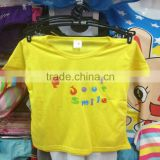 0.64USD Stock Wholesale Boys And Girls Summer Short Sleeve Cotton T Shirts Kids Custom T Shirts Design/Polo Shirt ( kcttx002)