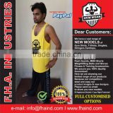 Tank Top Singlet Gym / Unlimited Custom Singlet With Muscle Back / Cheap Fitness Gym Tank Top Shirts by FHA INDUSTRIES PAKISTAN