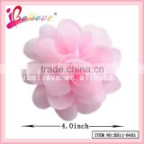100% Environmental fabric 4 inch large chiffon flower hair barrette for women (XH11-8461)